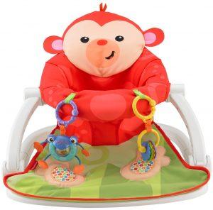 Fisher Price Sit-Me-Up Floor Seat Monkey